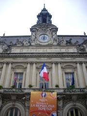 Hôtel de ville - Hôtel de ville de Tours (Indre-et-Loire, France), façade