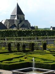 Eglise paroissiale Saint-Etienne - Français:   Église Saint-Étienne de Villandry depuis les jardins du Château