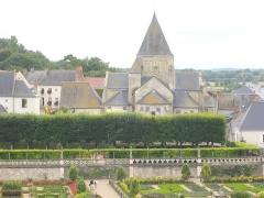 Eglise paroissiale Saint-Etienne - Français:   Église Saint-Étienne de Villandry (Indre-et-Loire), chevet vu du château