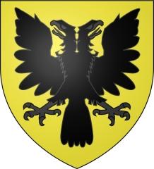 Prieuré Notre-Dame et Saint-Etienne de Villiers - Français:   Blason du prieuré de Grandmont-Villiers (Prieuré Notre-Dame et Saint-Étienne de Villiers) à Villeloin-Coulangé: «D\'or, à une aigle à deux têtes, de sable»