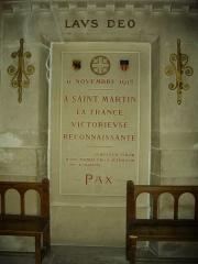 Basilique Saint-Martin - Intérieur de la basilique Saint-Martin de Tours (Indre-et-Loire, France), monument de l'armistice