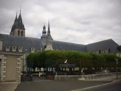 Ancienne abbaye Saint-Lomer, ou ancien Hôtel-Dieu - Français:   Ancienne abbaye Saint-Lomer de Blois (Loir-et-Cher, France), façade sud-est