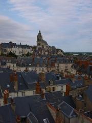 Cathédrale Saint-Louis - La cathédrale Saint Louis dominant la ville de Blois dans le Loir et Cher