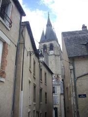 Eglise Saint-Nicolas-Saint-Lomer - Église Saint-Nicolas de Blois (Loir-et-Cher, France), vue depuis les degrés Saint-Nicolas