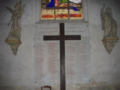 Eglise Saint-Saturnin - Français:   Église Saint-Saturnin de Blois (Loir-et-Cher, France), monument aux morts de la Première Guerre mondiale