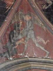 Eglise Saint-Aignan (ancienne collégiale) - Peintures murales en la chapelle des miracles de la collégiale Saint-Aignan de Saint-Aignan-sur-Cher (41).
