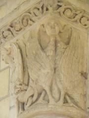 Eglise Saint-Aignan (ancienne collégiale) £ - Chapiteau de la collégiale Saint-Aignan de Saint-Aignan (41).
