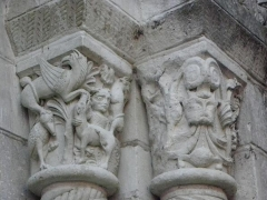 Eglise Saint-Aignan (ancienne collégiale) £ - Chapiteaux de la collégiale Saint-Aignan de Saint-Aignan (41).