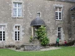 Domaine du château de Talcy - Français:   Aile Est et puits du Château de Talcy