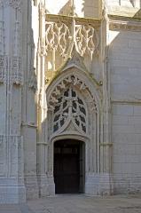 Ancienne abbaye de la Trinité - Portail latéral de l'église de l'abbaye de la Trinité à Vendôme, en Loir-et-Cher (France)