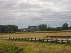 Basilique Notre-Dame - Français:   Basilique Notre-Dame de Cléry-Saint-André (Loiret, France), aperçue depuis le lieu-dit Lusson