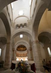 Eglise de la Très-Sainte-Trinité - Français:   Oratoire caroligien de Germigny-des-Prés (Loiret) - vue de la coupole et du carré de transept