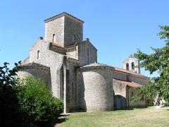 Eglise de la Très-Sainte-Trinité - Français:   Église de la Très-Sainte-Trinité de Germigny-des-Prés, Monument historique, Loiret, Centre, France