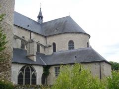 Eglise Saint-Liphard - Français:   Collégiale Saint-Liphard de Meung-sur-Loire (Loiret, France), vues depuis le parc du château
