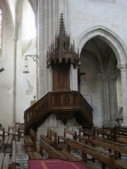 Eglise Saint-Liphard - Français:   Collégiale Saint-Liphard de Meung-sur-Loire (Loiret, France), chaire