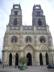 Cathédrale Sainte-Croix - Cathédrale Sainte-Croix d'Orléans (Loiret, France), façade occidentale