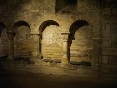 Eglise Saint-Aignan - Français:   Crypte de l'église Saint-Aignan d'Orléans (Loiret, France)