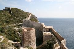 Citadelle - Français:   Bonifacio (Corse-du-Sud - France), tour intérieure et murailles des fortifications de la citadelle surplombant l\'entrée du port.