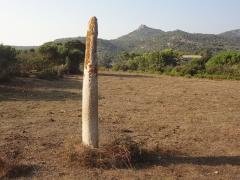 Menhir de Vaccil-Vecchio - Français:   Menhir de Vaccil Vecchiu, Grossa, Corse  (Classé, 1862)