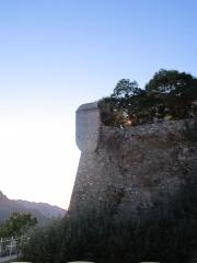 Echauguette et rempart attenant - Français:   Échauguette de Sartène, Avenue Gabriel-Péri à Sartène, Corse (Inscrit, 1984)