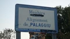 Alignement de menhirs de Pagliajo -  Alignement de Palaggiu