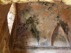 Ancienne cathédrale de Sagone ou cathédrale Saint-Appien -  Vico, Ouest Corse (Corse) - Partie de voûte de l'ancienne cathédrale Sant' Appiano à Sagone