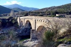 Pont génois sur le Tavignano -  Altiani, Rogna (Corse) - Pont'à u large appelé communément pont d'Altiani