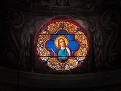 Eglise Sainte-Marie -  Calvi, Balagne (Corse) - Vitrail de l'église Sainte-Marie Majeure