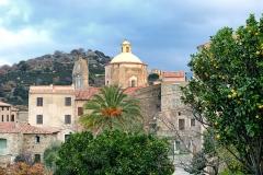 Eglise paroissiale - Français:   Cateri, Balagne (Corse) - L\'église paroissiale de l\'Assomption (Santa Maria) et de Sainte-Lucie, en haut du village