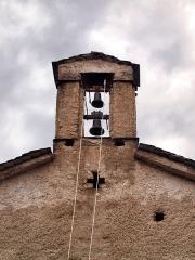 Chapelle Santa-Maria-Assunta -  Favalello, Bozio (Corse) - Clocher (17e-18e s.) de l'église romane Santa Maria Assunta du Xe siècle.