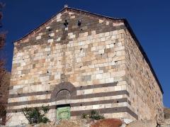 Chapelle Saint-Rainier - Français:   Façade principale de la chapelle San Raineru de Lunghignano, Montegrosso (Corse)