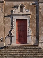 Eglise de Montemaggiore - Français:   Montegrosso (Corse) - Portail de l\'église Saint-Augustin de Montemaggiore