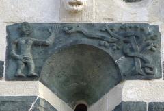 Eglise Saint-Michel - Deutsch: Kirche San Michele de Murato, Korsika - Der Sündenfall (die Schlange reicht Eva die Frucht vom Baum der Erkenntnis)