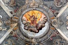 Eglise Saint-Jean-Baptiste -  La Porta, Castagniccia (Corse) - Décor central du plafond de la nef de l'église Saint-Jean-Baptiste,