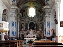 Eglise Saint-Jean-Baptiste -  La Porta, Castagniccia (Corse) - Intérieur de l'église Saint-Jean-Baptiste