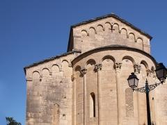 Eglise Sainte-Marie (ancienne cathédrale de Nebbio) -  Saint-Florent, Nebbio (Corse) - Détail du haut du chevet de l'ancienne cathédrale du Nebbiu