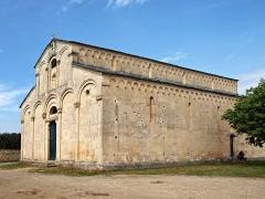 Eglise Sainte-Marie (ancienne cathédrale de Nebbio) -  Saint-Florent, Nebbio (Corse) - Façades occidentale et sud de l'ancienne cathédrale du Nebbiu
