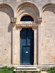 Eglise Sainte-Marie (ancienne cathédrale de Nebbio) -  Saint-Florent, Nebbio (Corse) - Portail de la façade occidentale de l'ancienne cathédrale du Nebbiu