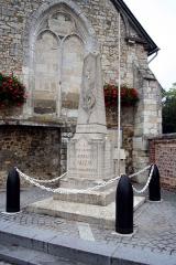 Eglise -  Monuments aux morts d'Alizay - Eure (France)