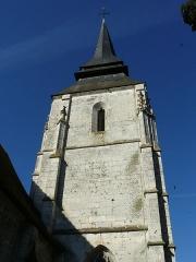 Eglise - English:   Church tower, Amfreville-sur-Iton (Eure, France)