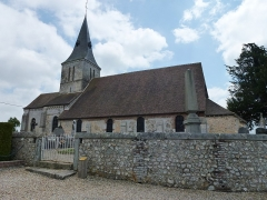 Eglise - English: Boisney (Eure, Fr) église Saint-Aubin MH