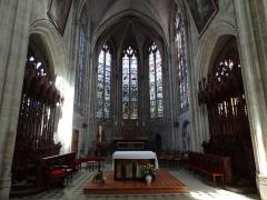 Ancienne abbaye Saint-Taurin - Français:   Église Saint-Taurin d\'Évreux, chœur de style gothique (XVe siècle).