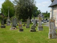 Croix de cimetière - English: Notre-Dame d'Épine (Eure, Fr) croix de cimetière, sa position dans  la parti vieille du cimetière