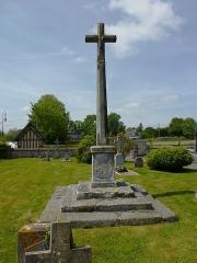 Croix de cimetière - English: Notre-Dame d'Épine (Eure, Fr) croix de cimetière verso