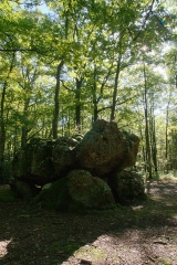 Dolmen dit La Pierre Courcoulée - This building is indexed in the Base Mérimée, a database of architectural heritage maintained by the French Ministry of Culture,under the reference PA00099599 .