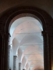 Eglise Sainte-Valérie - English: Chambon-sur-Voueize. Sainte Valérie abbey church. Interior. Nave vault.