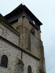 Eglise Sainte-Valérie - English: Chambon-sur-Voueize. Sainte Valérie abbey church. West belltower.