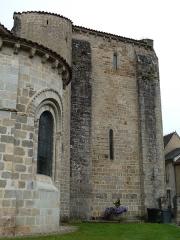 Eglise Sainte-Valérie - English: Chambon-sur-Voueize. Sainte Valérie abbey church. Chevet.