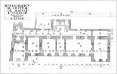 Restes du château - English: 2eme etage chateau