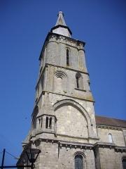 Eglise Notre-Dame - Église Notre-Dame de La Souterraine (Creuse, France), clocher vu du sud